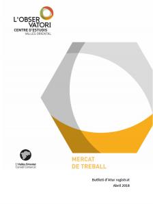 Butlletí d'Atur registrat Abril 2018