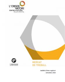Butlletí d'Atur registrat Setembre 2018 Vallès Oriental