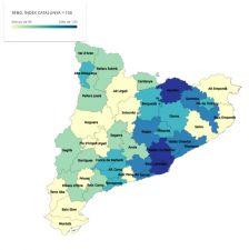 Mapa RFBD per comarques 2014
